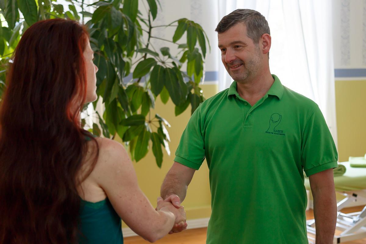 Physiotherapie Praxis NABER – Begrüßung